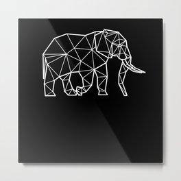 Polygonal Elephant T Shirt Metal Print