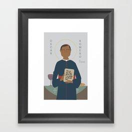 Oscar Romero of El Salvador Framed Art Print