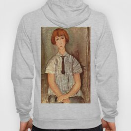 "Amedeo Modigliani ""Young Girl in a Striped Blouse"" Hoody"