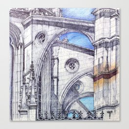 bATALHA mONASTERy Canvas Print
