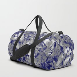 Grunge Art Silver Floral Abstract G169 Duffle Bag