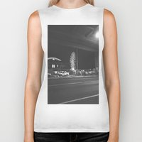ferris wheel Biker Tanks featuring Fading Ferris Wheel by Jane Lacey Smith