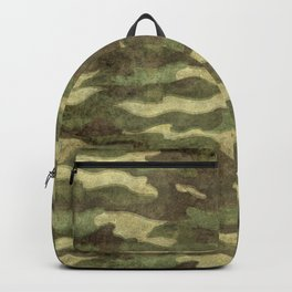 Distressed Camouflage Backpack