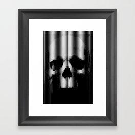 Skull Lines Framed Art Print