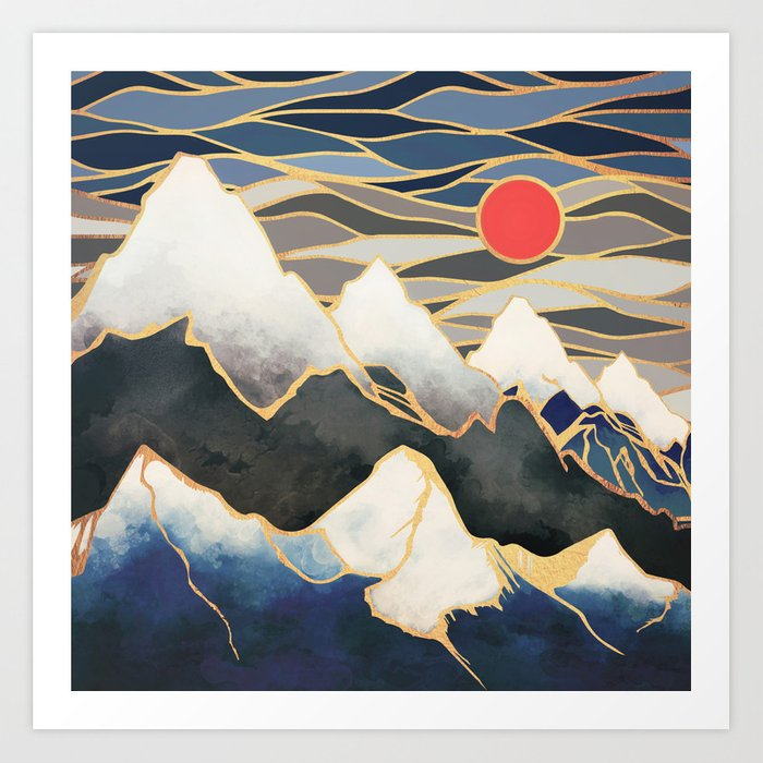 Ice Mountains Art Print