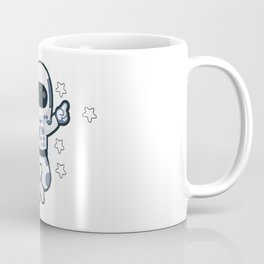 Astronaut Flying Across the Stars in Space While Dancing Coffee Mug