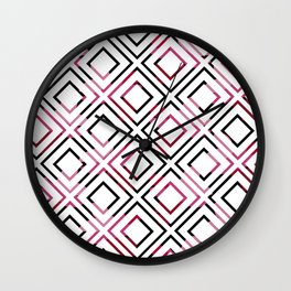 Basic Pre-Columbian Pattern Wall Clock
