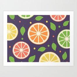 Lemon, Lime and Bitters Art Print
