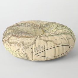 Iran, Afghanistan & Pakistan Map (1846) Floor Pillow