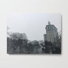 Snowy City Metal Print