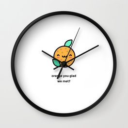 JUST A PUNNY ORANGE JOKE! Wall Clock