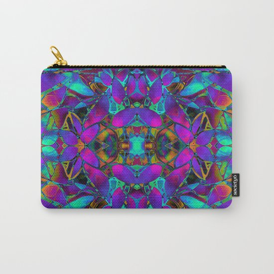 Fractal Floral Abstract G293 Carry-All Pouch