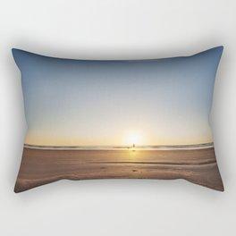 Beach Walk at Sunrise Rectangular Pillow
