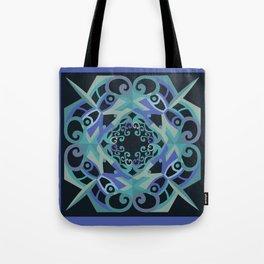 Thanksgiving Mandala - Blue Black Tote Bag