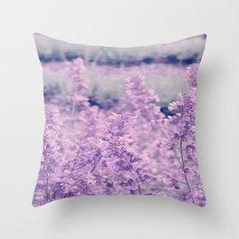 Dreamy Lavender Throw Pillow