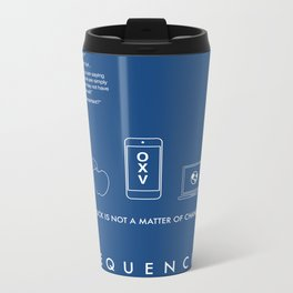FREQUENCIES MEDIUM FREQUENCY (THEO - BLUE) CHARACTER POSTER Metal Travel Mug