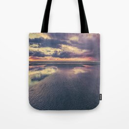 Stormy Beach Sunset Tote Bag
