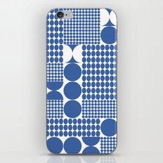 POTS OF SPOTS BLUE iPhone Skin