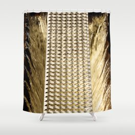 Water and iron Shower Curtain
