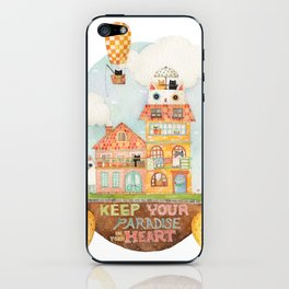 Keep your paradise in your heart iPhone Skin