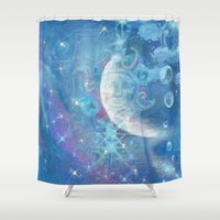 celestial Shower Curtains featuring Celestial by Geni