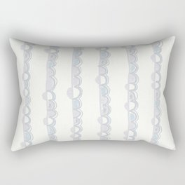 Background with hand drawn bubbles in pastel colors Rectangular Pillow