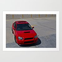 subaru Art Prints featuring Subaru WRX by 218studio