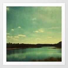 Evening at the Lake Art Print