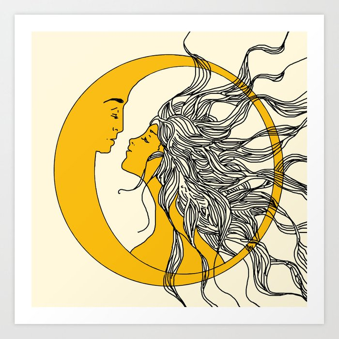Wonderful Sun and Moon Art Print by nadja1 | Society6 WQ94