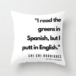 21    | Golf Quotes | 190606 Throw Pillow