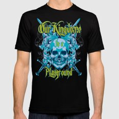 Kingdom is a playground 2X-LARGE Black Mens Fitted Tee