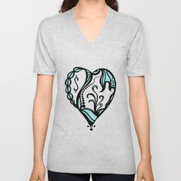 Birth Hearts No.4 Unisex V-Neck
