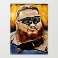 action bronson Canvas Prints featuring action bronson by charles lee