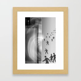 THE OPENING Framed Art Print