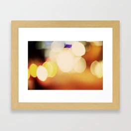 City Blur Framed Art Print