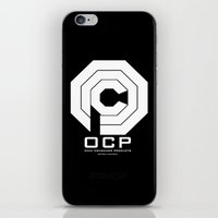 robocop iPhone & iPod Skins featuring RoboCop- OCP by IIIIHiveIIII
