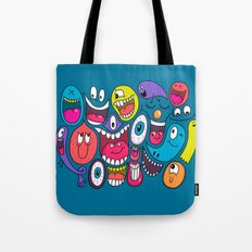 Friendly Faces Tote Bag