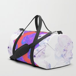 Abstract Geometric Peonies Flowers Design Duffle Bag
