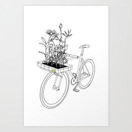 Wherever flowers go Art Print