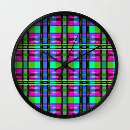 TV Plaid Wall Clock