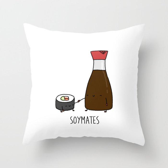 Soymates Throw Pillow