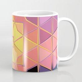 yellow pink violet black sqaure Coffee Mug