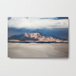 Sunlight on San Andres - Desert Scenery at White Sands New Mexico Metal Print