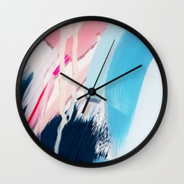 Even After All  #4 - Abstract on perspex by Jen Sievers Wall Clock