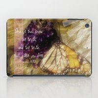 bible verse iPad Cases featuring Truth - Verse by Anita Faye
