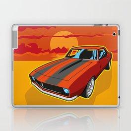 Red Camaro at Sunset Laptop & iPad Skin