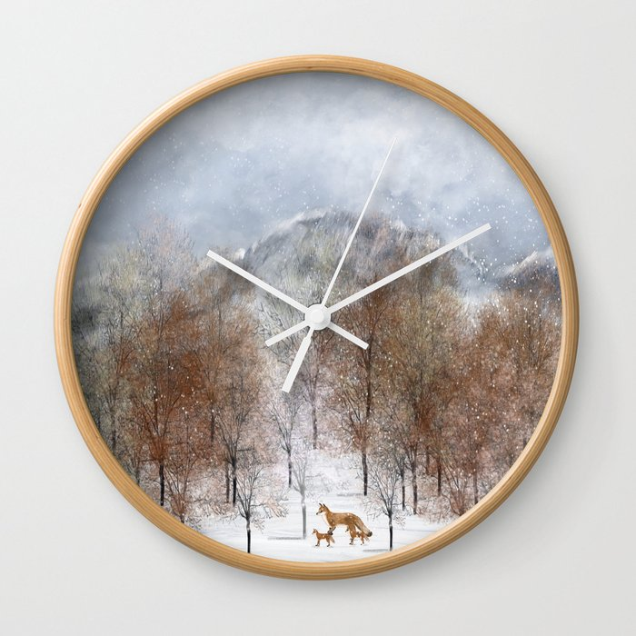 nature will find a way deux Wall Clock