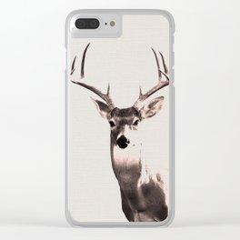 Deer Art 1 Clear iPhone Case
