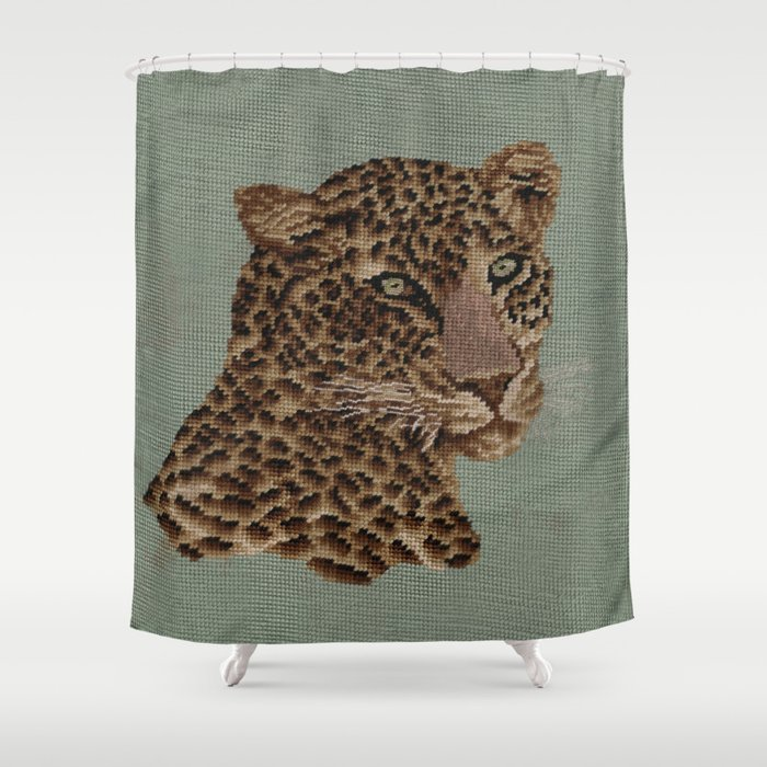 Leopard Shower Curtain By Goosegirl9