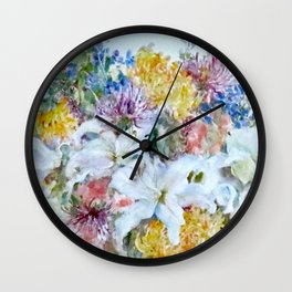 Bountiful floral Wall Clock